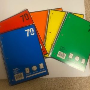 5 Wide Ruled Loose Leaf Notebooks